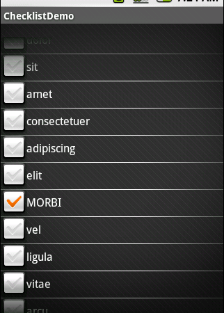 Android CheckList, Redux