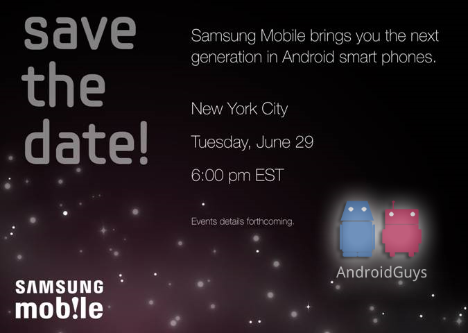 samsung teasing galaxy s with save the date emails