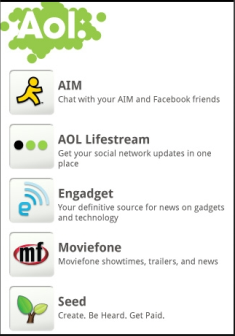 AOL content app for Android