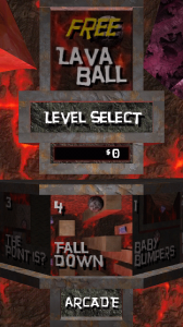 LavaBall Level Select