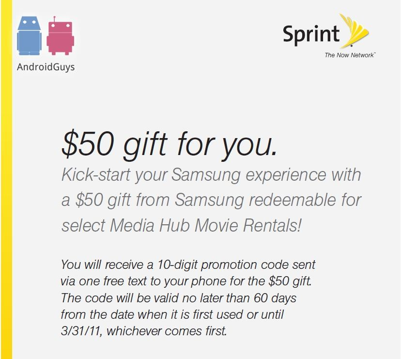 $50 Gift Card from Sprint