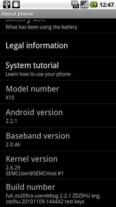 Xperia X10 Gets Custom ROM With Stock Froyo [UPDATE]
