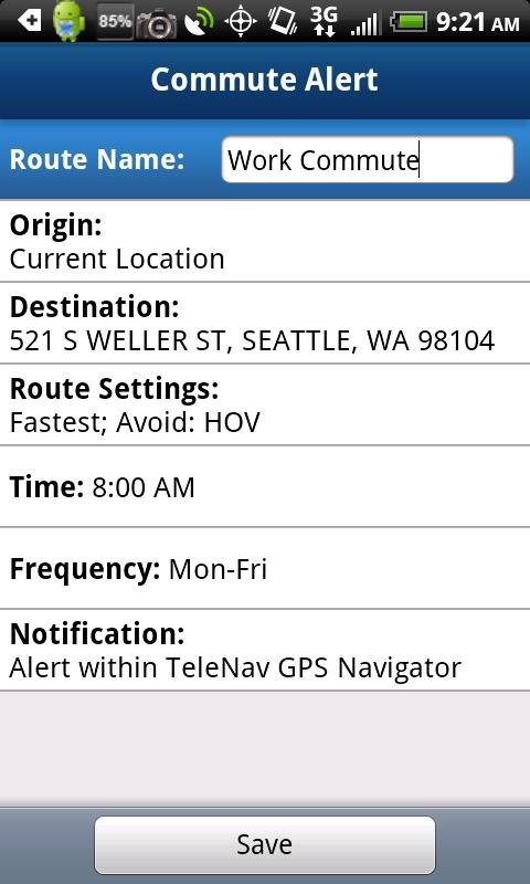 Commute Alerts