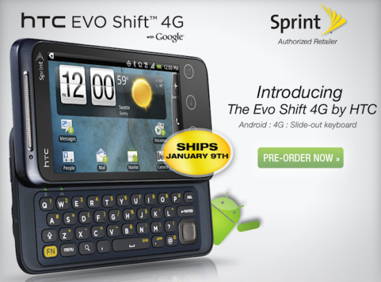 EVO Shift 4G Sprint Launch