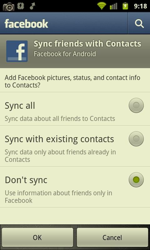Google Drops Facebook Sync from Nexus S