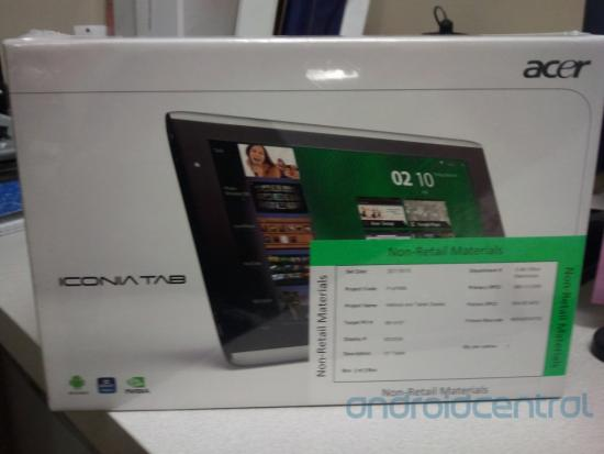 Acer Iconia Tab non-retail box