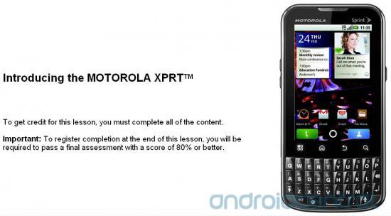 Sprint Motorola Xprt