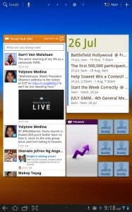 Social Hub widget