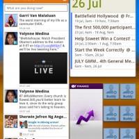 Social Hub widget