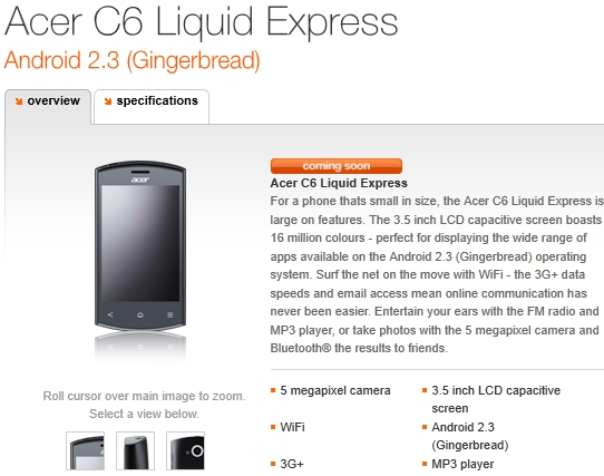 Acer-C6-Liquid-Express-E320-Orange-UK