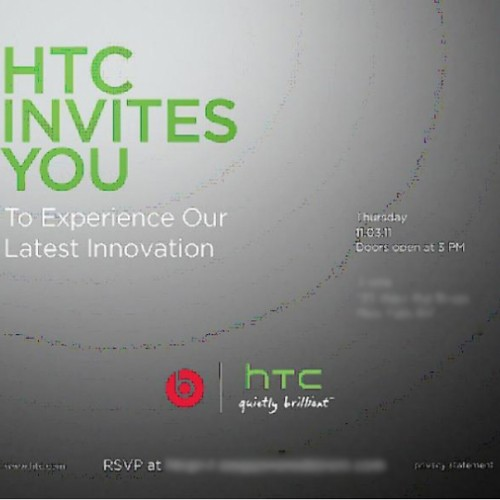 HTC to launch their latest innovation on Nov. 3rd