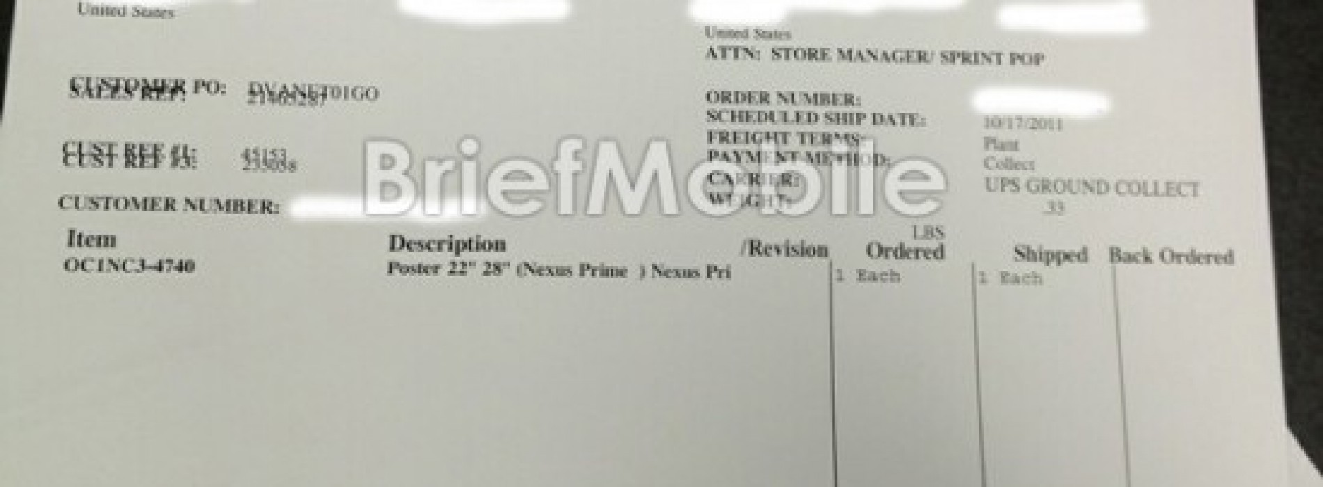 Galaxy Nexus Spotted in Internal Sprint Document?
