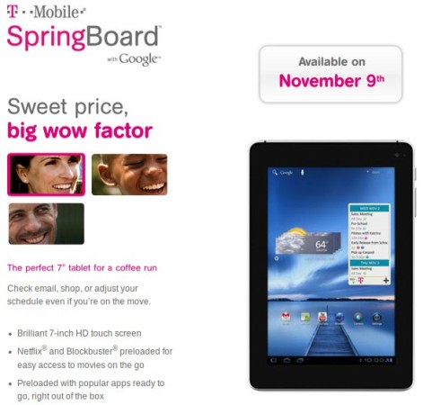 T Mobile Springboard Launch Date