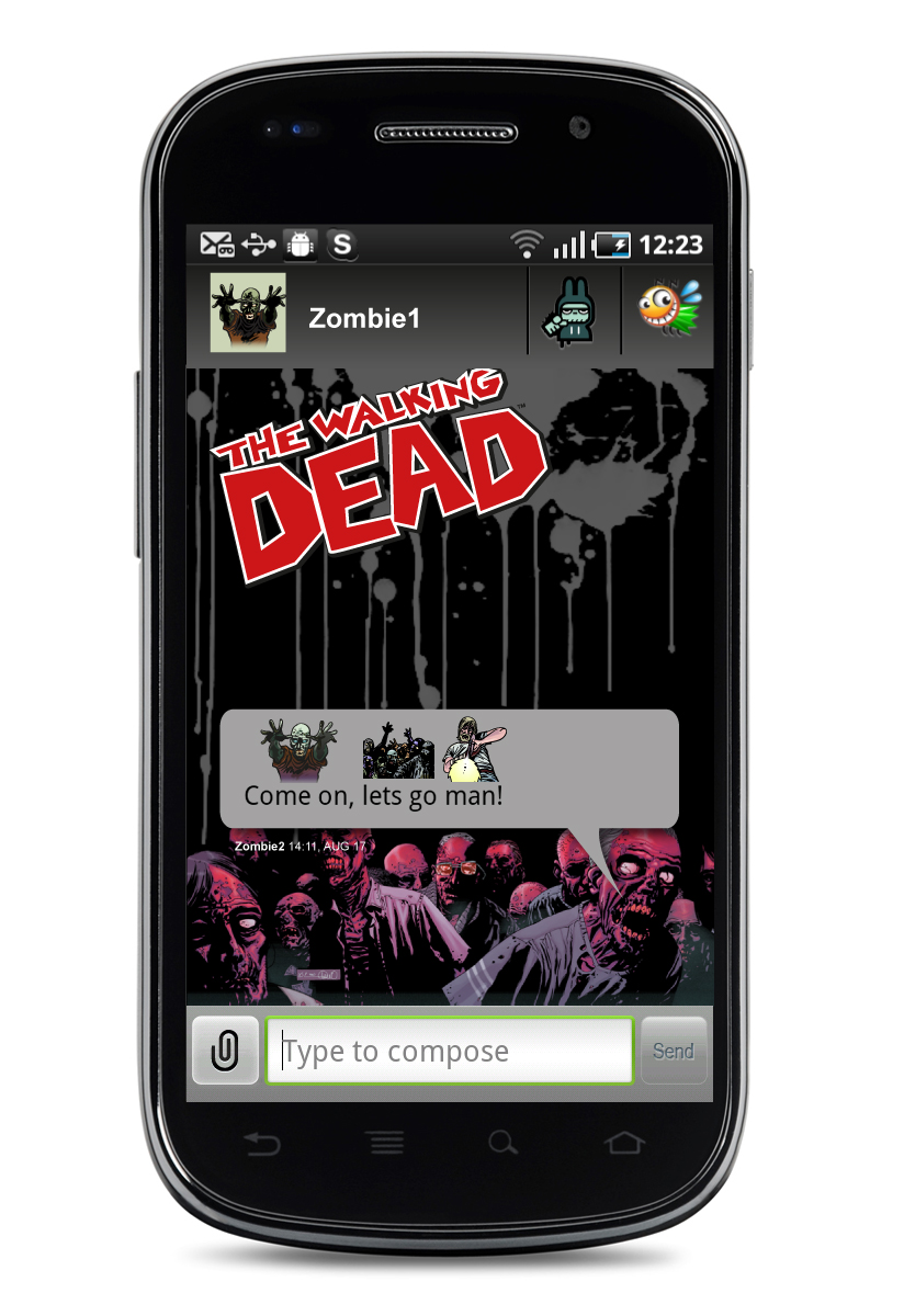 The Walking Dead message