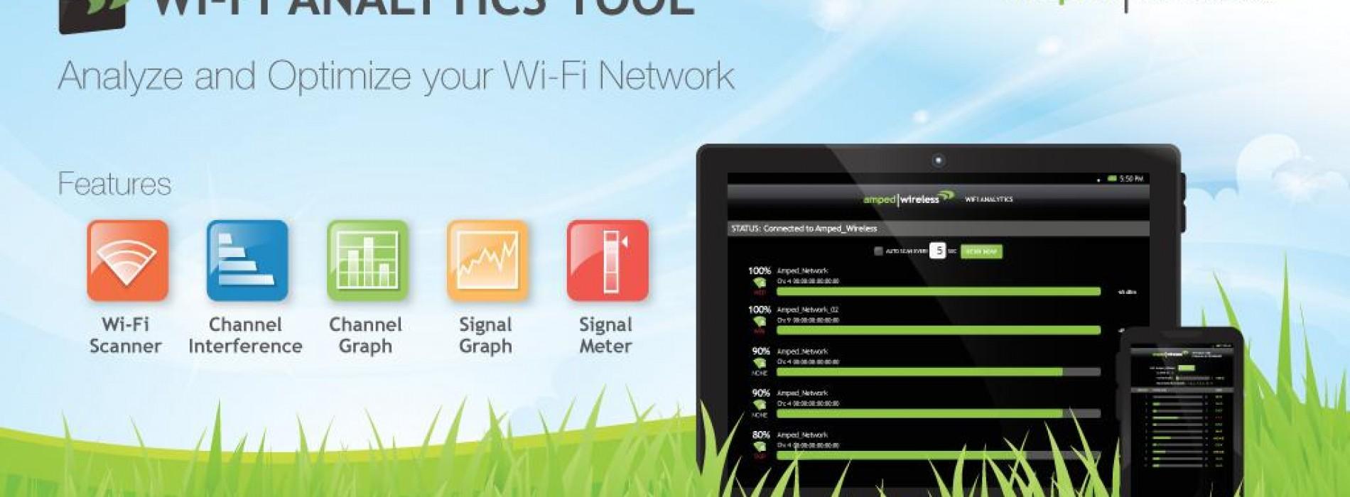 Amped Wireless Announces Wi-Fi Analytics App