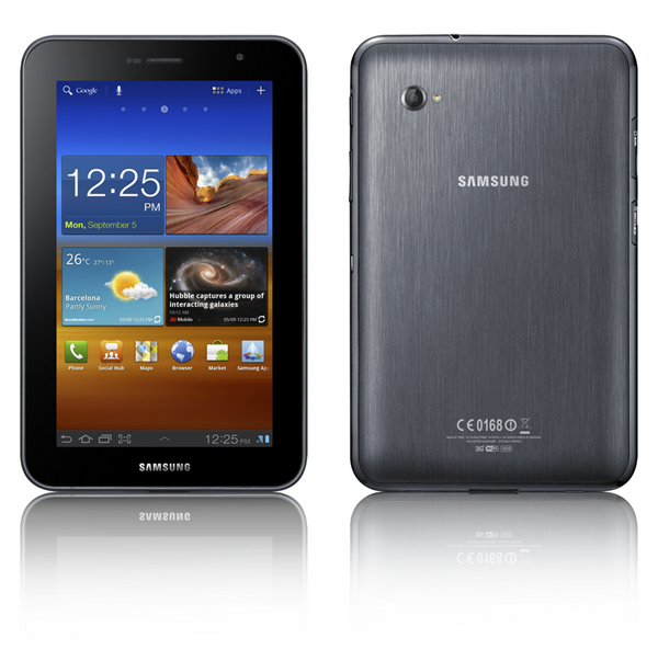 Galaxy Tab7plus Front Back