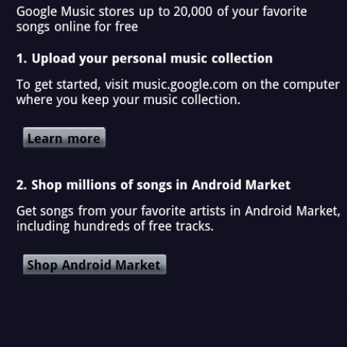 Music coming to the Android Market soon?