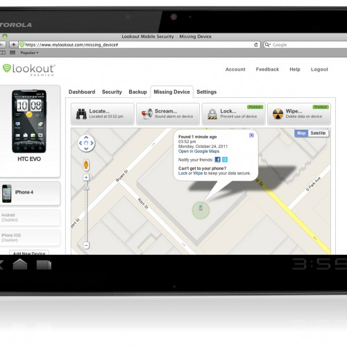 Lookout Mobile Security now available for Android tablets