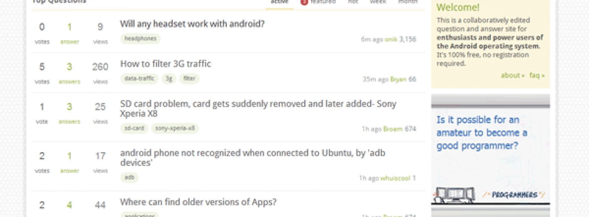 Stack Exchange provides answers to your Android questions
