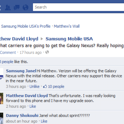 Samsung: Verizon getting Galaxy Nexus first, others carrier may follow [Update]