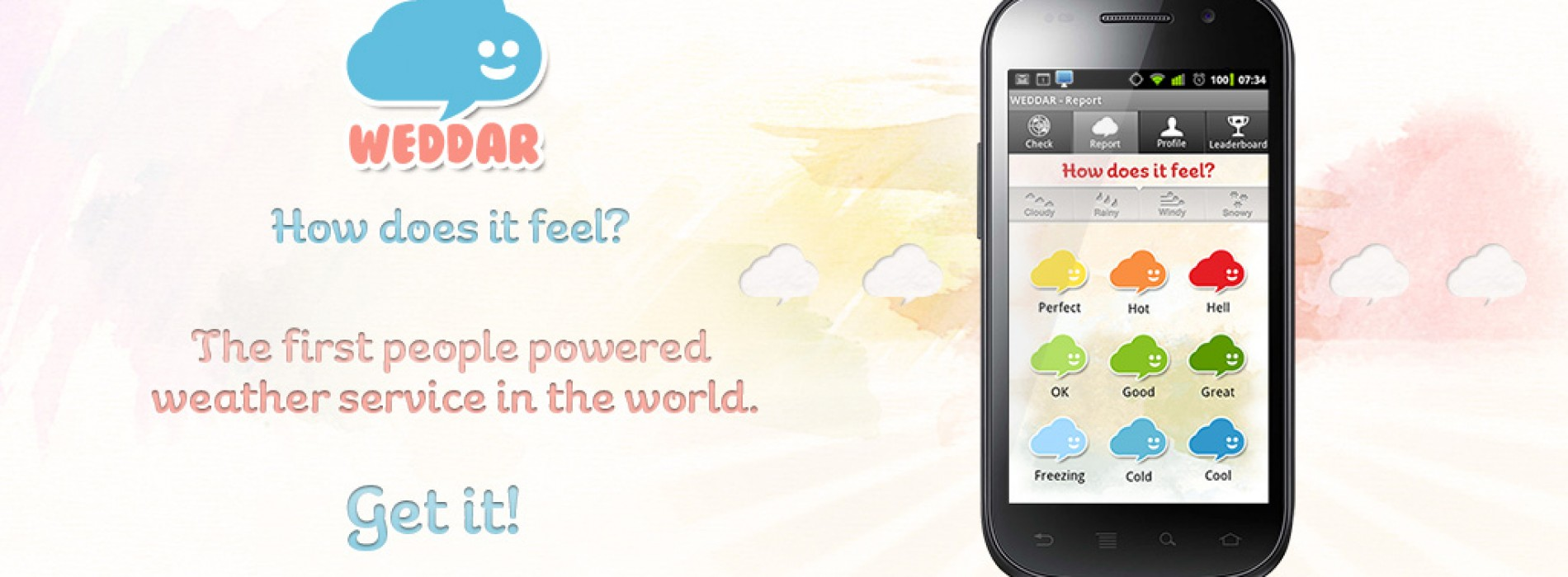 Weddar's crowd-sourced weather comes to Android