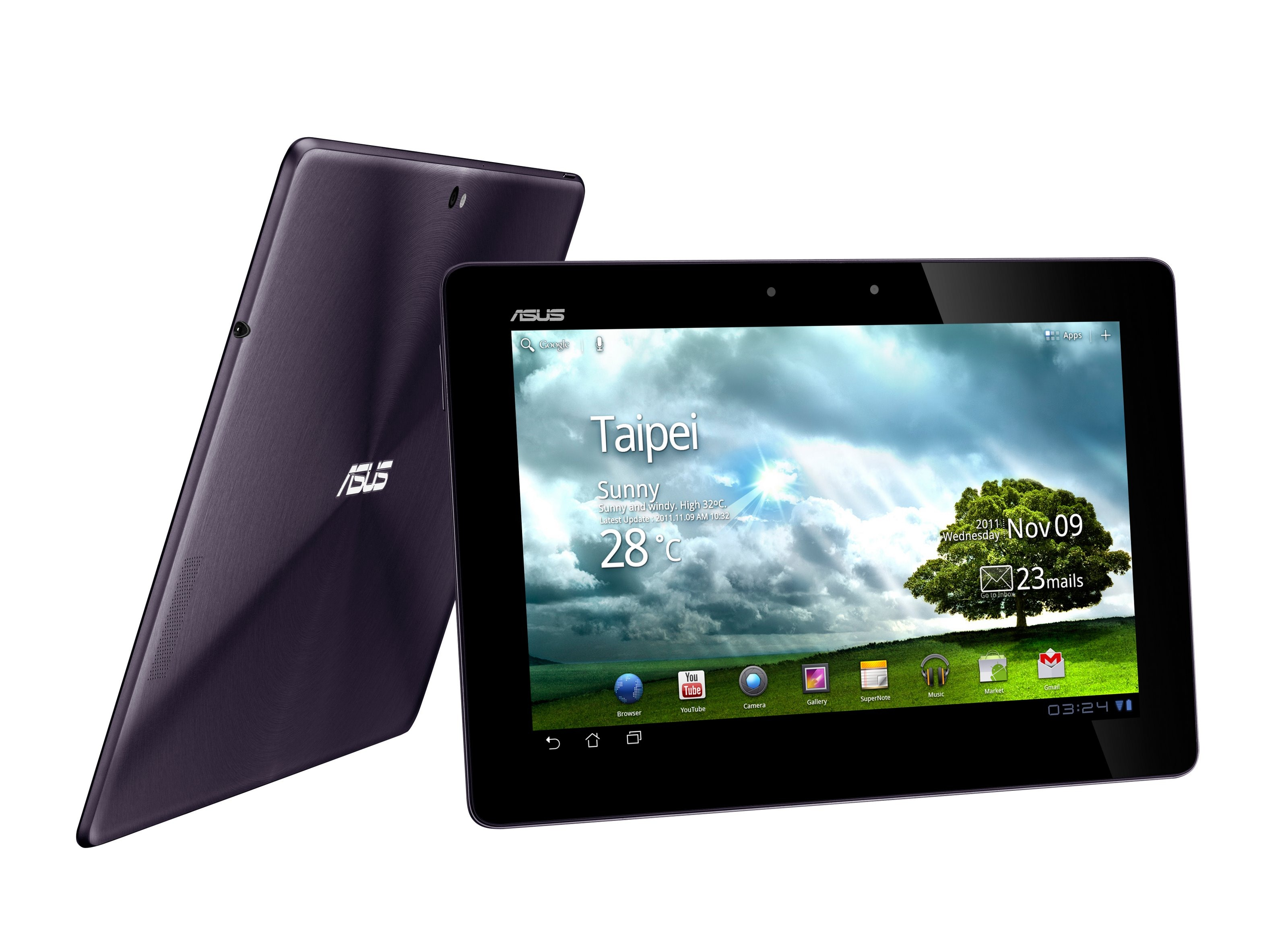 PR ASUS Eee Pad Transformer Prime Front Amethyst Gray1