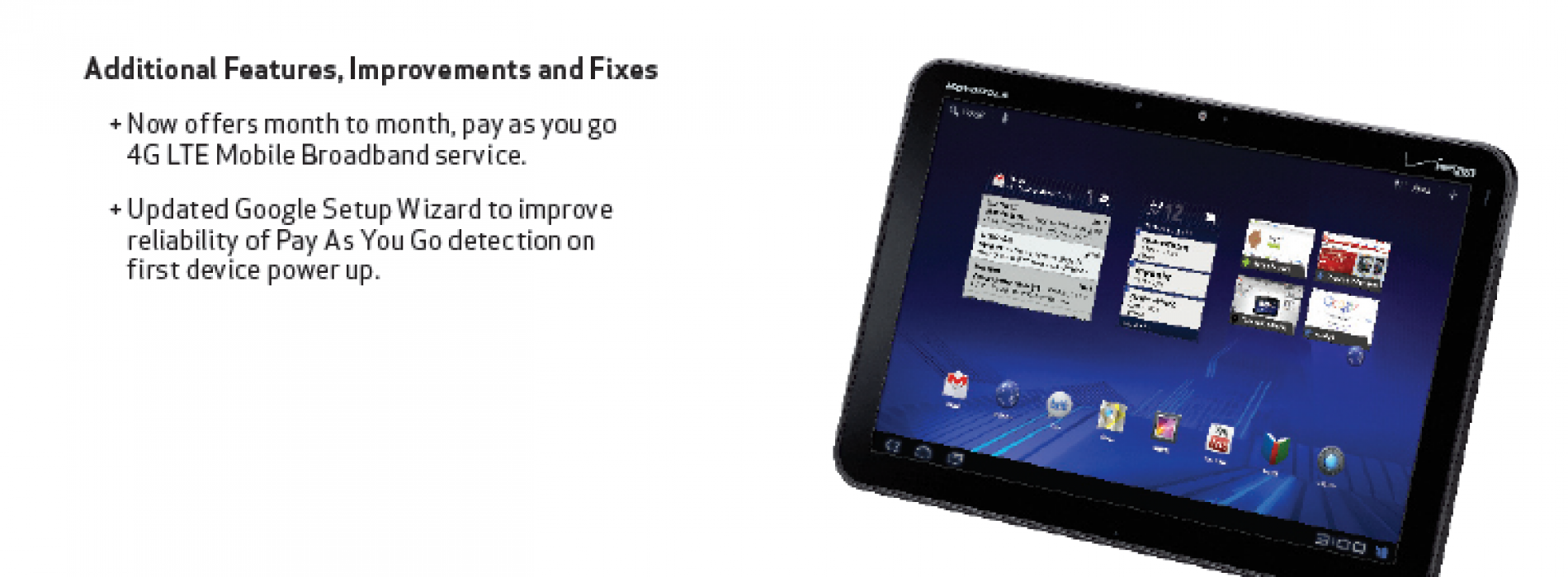 Xoom receives software update, sadly not ICS