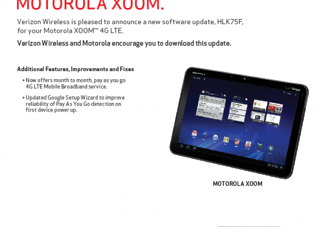 Xoom Update list