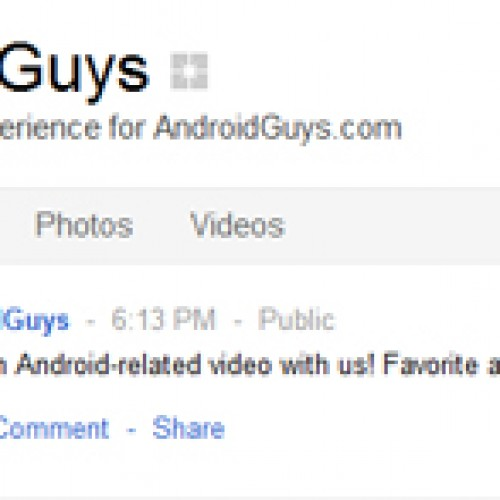 AndroidGuys is now on Google+, come check us out and add us to your circles