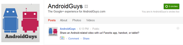 Androidguys Google Plus