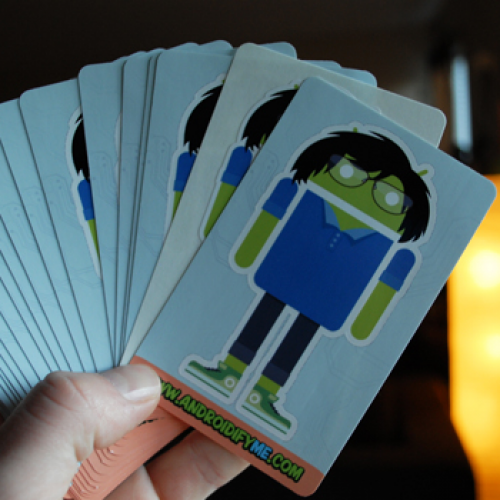 "Kickstarter project aims to create personalized ""Androidify Me"" stickers"