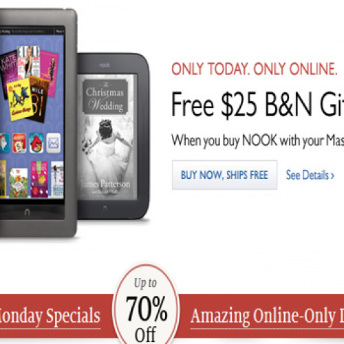 "Barnes & Noble's Cyber Monday ""Deals and Steals"""