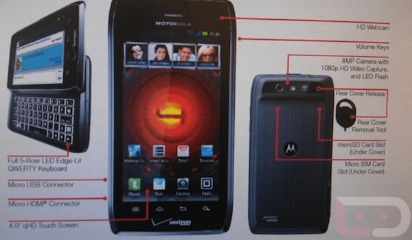 Droid 4 Feature Leak