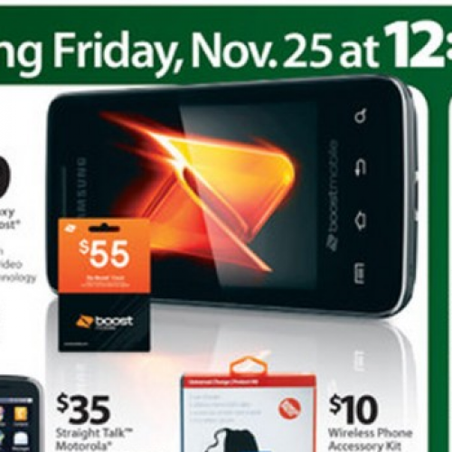 Walmart's Black Friday features $69 Galaxy Prevail (Boost Mobile)