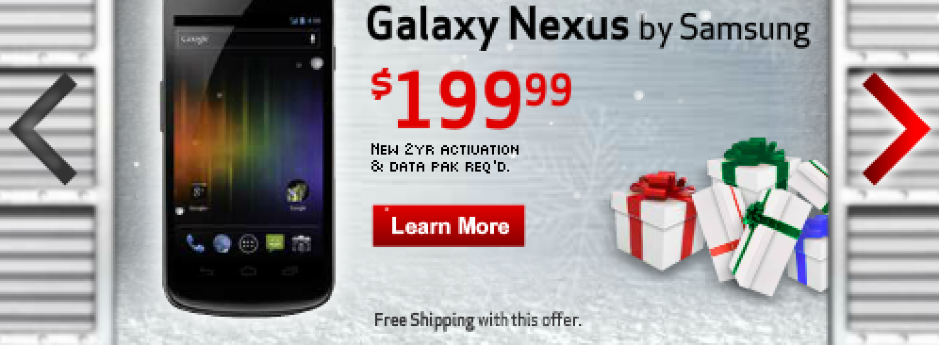 Verizon Galaxy Nexus shows up in online ads for $199; you still can't buy one