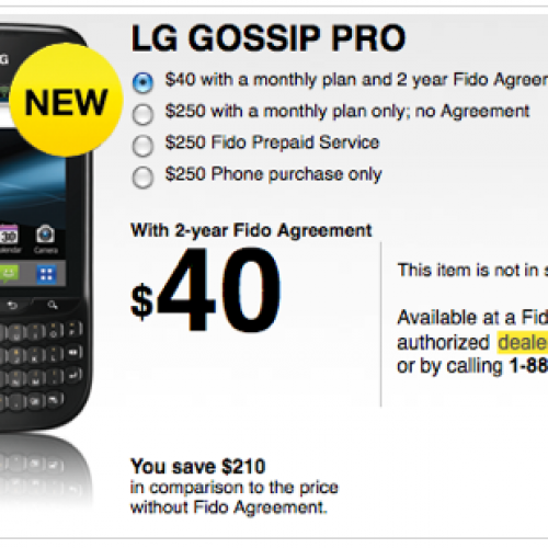LG Gossip Pro launching on Canadian carrier Fido, comes with Android 2.3 and QWERTY keyboard