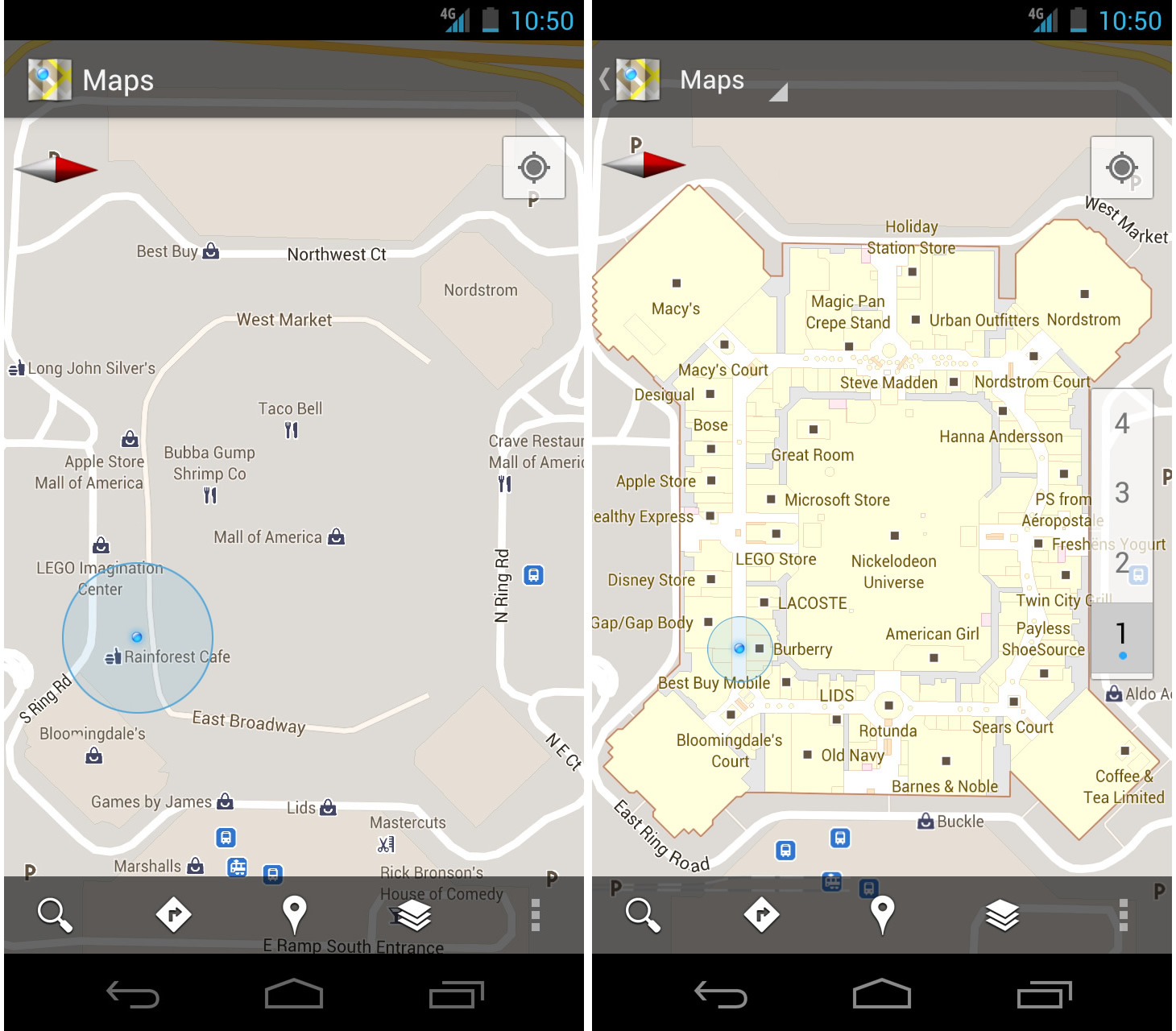Google maps 60 goes indoors with mall airport maps and more google gumiabroncs Gallery
