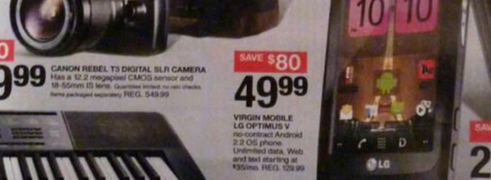 Target Black Friday has Optimus V for $49.99 (Virgin Mobile)