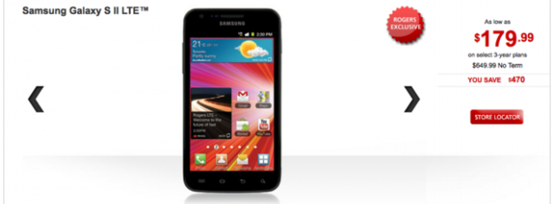 Rogers Galaxy S II LTE going cheap
