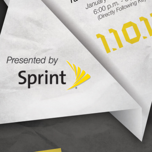 Sprint issues a save-the-date event to be held January 10, directly after CES keynote