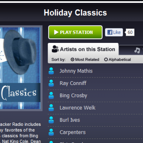Slacker Radio refreshes 11 holiday-themed stations