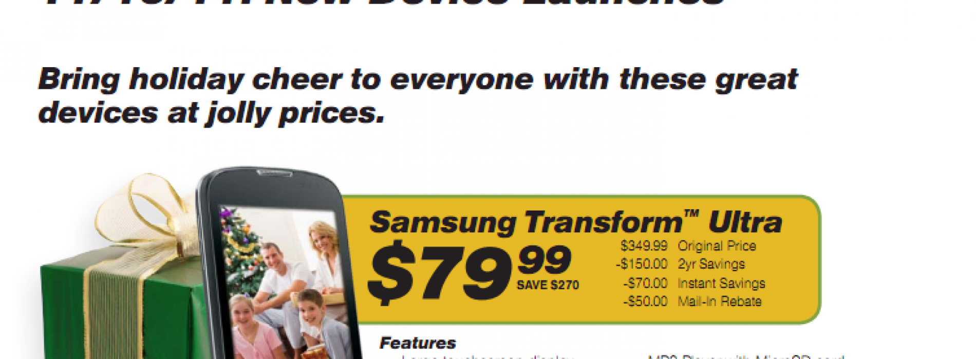 Sprint set to offer $80 Samsung Transform Ultra on November 13