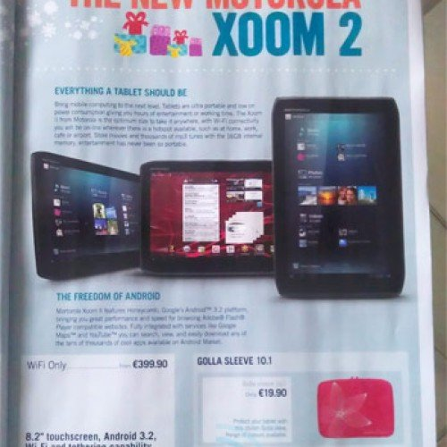 Carphone Warehouse: Wi-Fi Xoom 2 to run €399 when it debuts