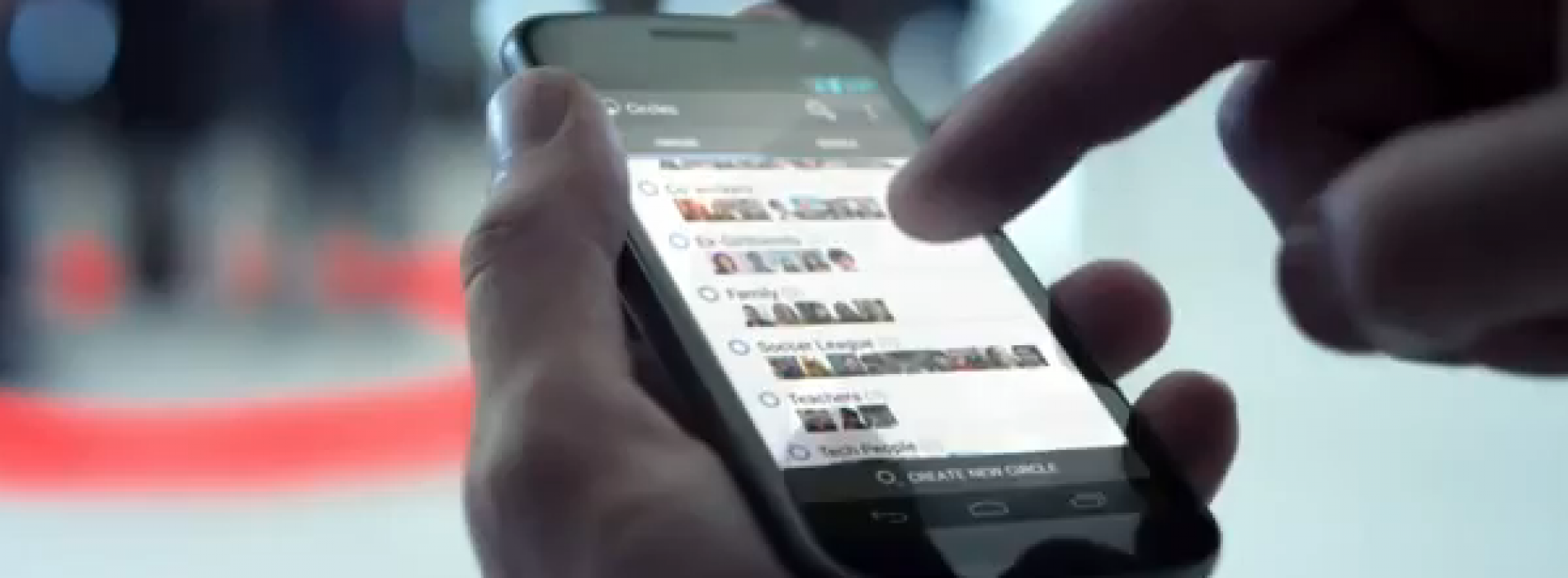 Verizon's first commercial for the Galaxy Nexus touts Google+ instead of the phone