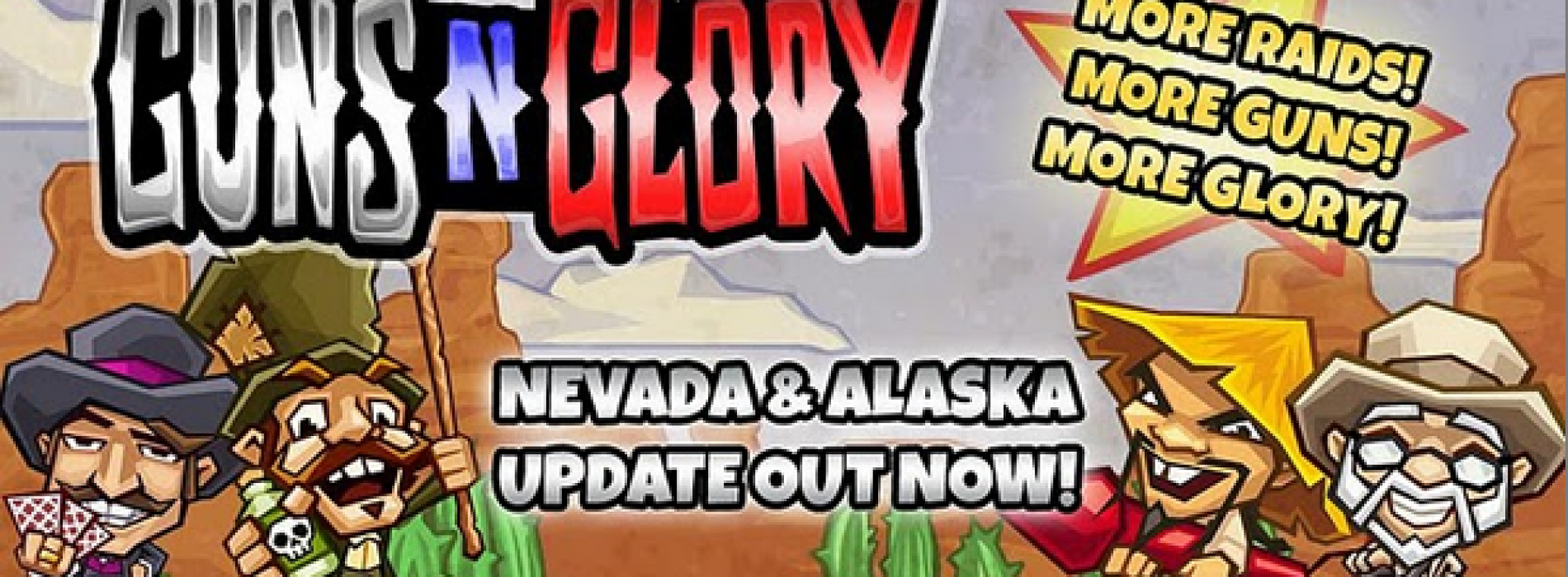 Guns'n'Glory gets 20 new levels with Nevada, Alaska campaigns