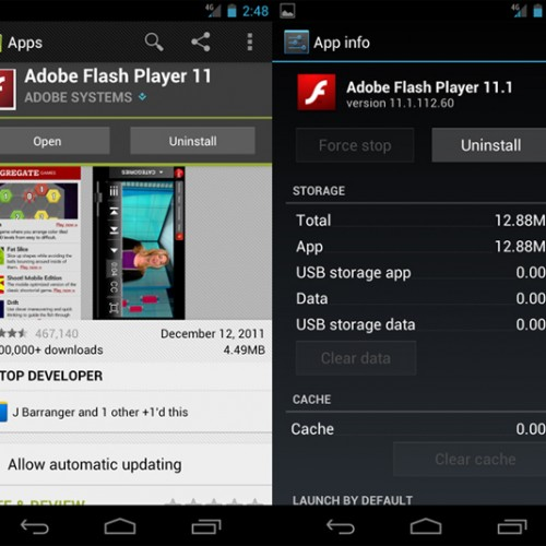 Adobe makes good on promise to update Flash Player to add Ice Cream Sandwich support