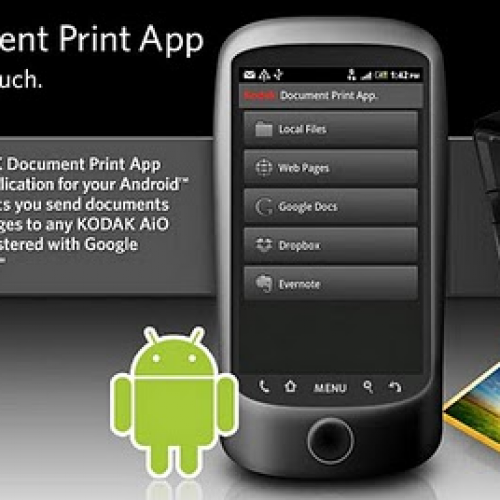 Kodak debuts document printing app for Android