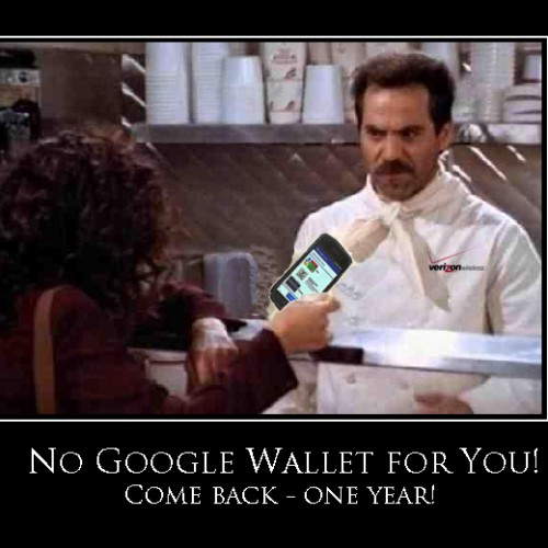 "Verizon says ""No Google Wallet for you!"" – Verizon to block Google Wallet from Galaxy Nexus users"