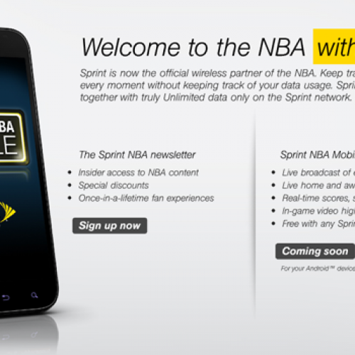 Sprint becomes official wireless service partner for NBA, announces new app