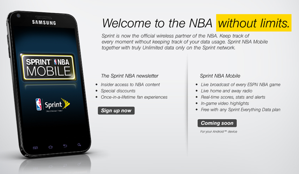 Sprint becomes official wireless service partner for NBA, announces